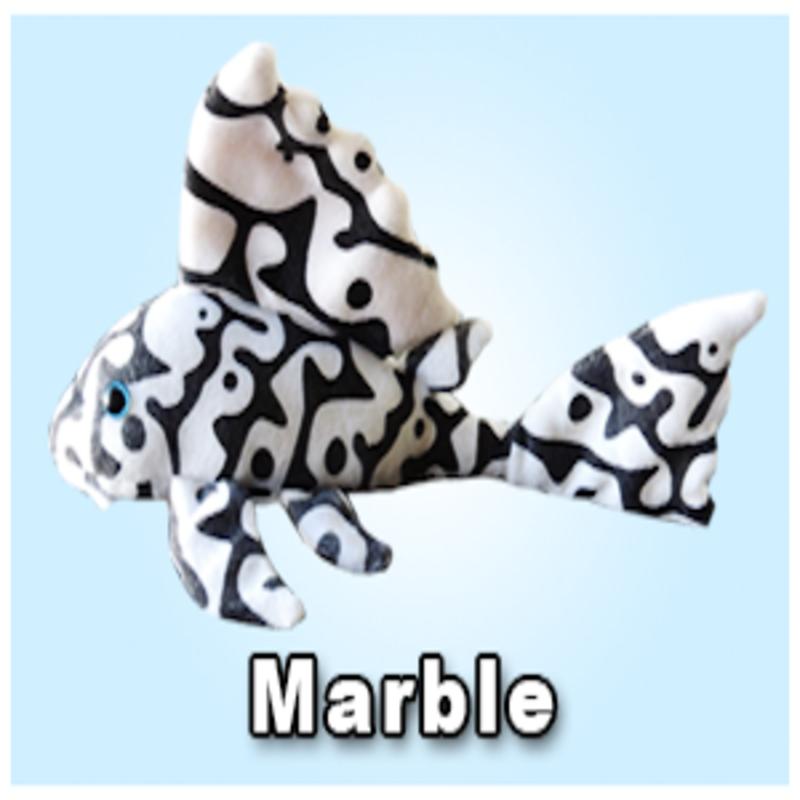 "Green Pleco 12"" Marble Pleco Plushie"