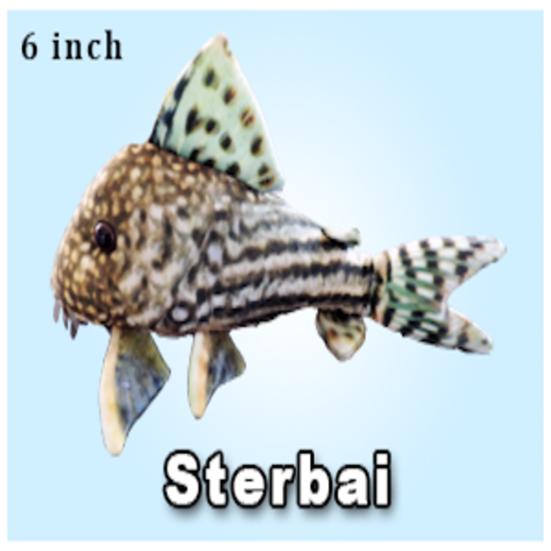 "Green Pleco 6"" Sterbai Cory Plushie"