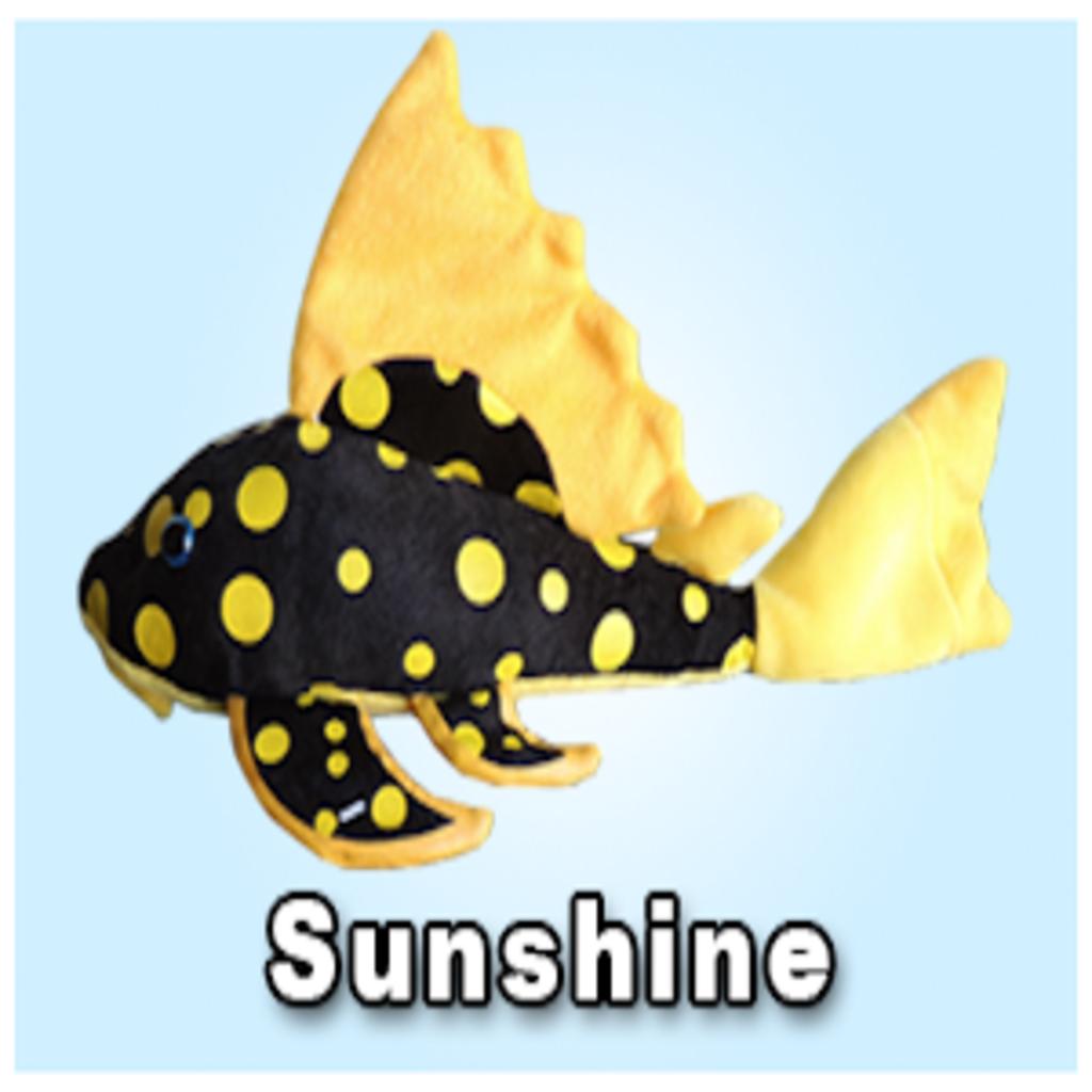"""Green Pleco 12"""" Gold spot / Sunshine Pleco Plushie"""
