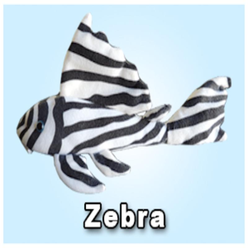 """Green Pleco 12"""" Zebra Pleco Plushie"""