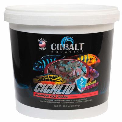 Cobalt Aquatics Cobalt Cichlid Flake Tub 2lb