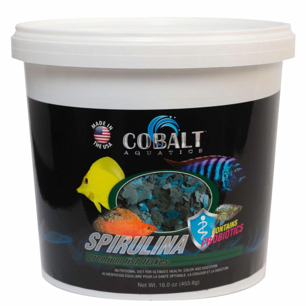 Cobalt Aquatics Cobalt Spirulina Flake Tub 2lb