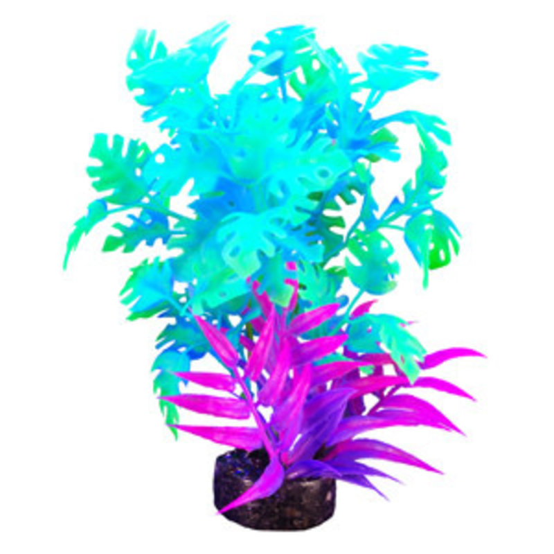 """Hagen Products iGlo Plant Green/Blue - Philddendron 5.5"""""""