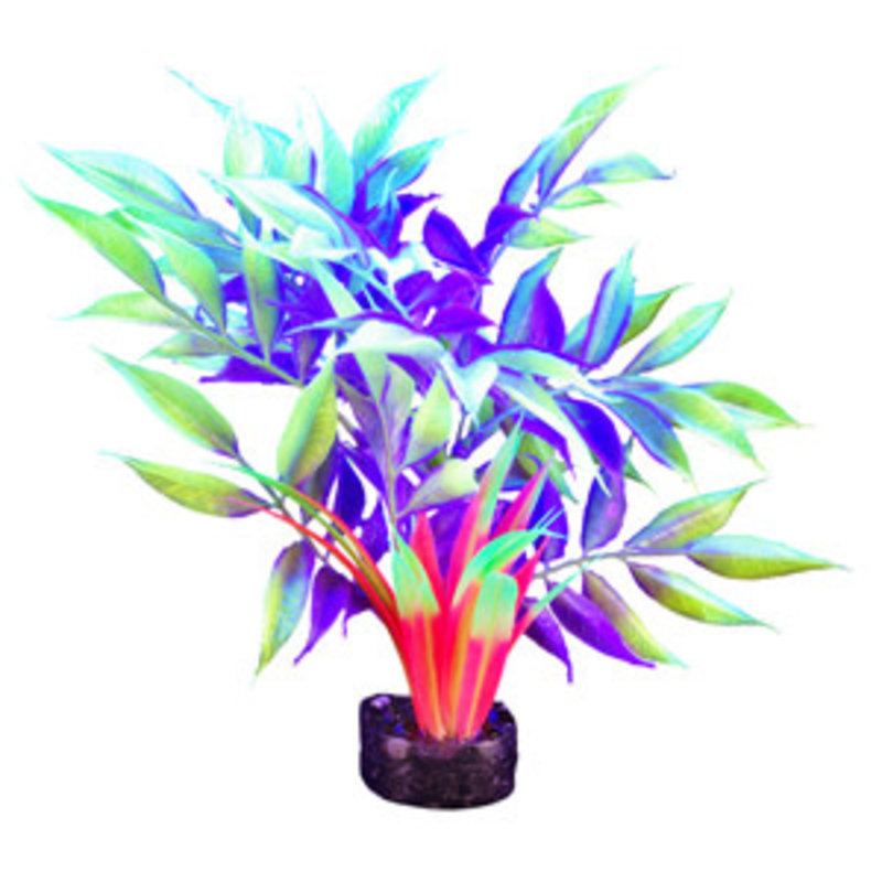 """Hagen Products iGlo Plant Yellow/Purple - Wide Leaf Bamboo 12.5"""""""