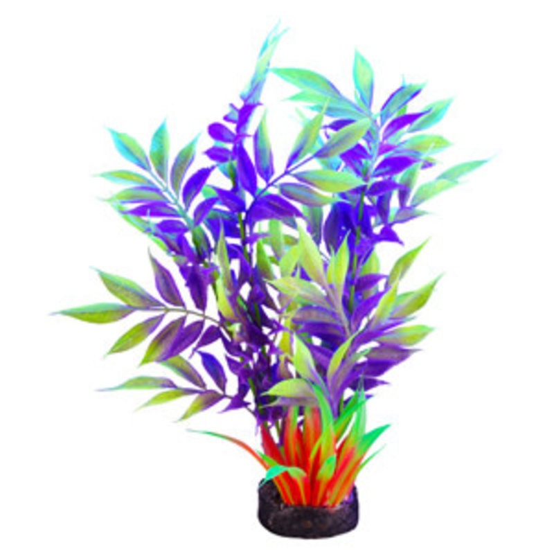"""Hagen Products iGlo Plant Yellow/Purple - Wide Leaf Bamboo 7.5"""""""