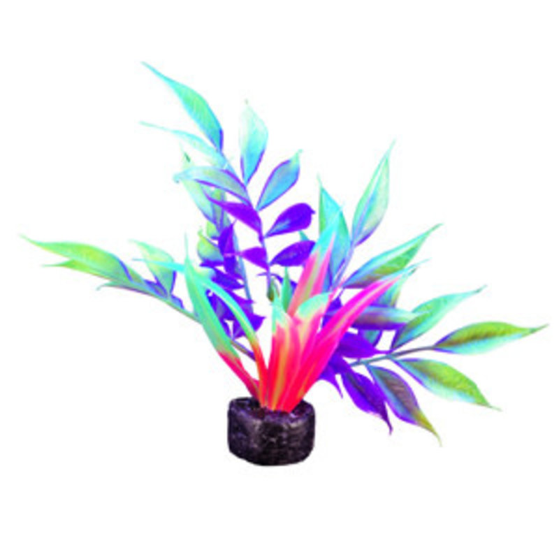 """Hagen Products iGlo Plant Yellow/Purple - Wide Leaf Bamboo 5.5"""""""