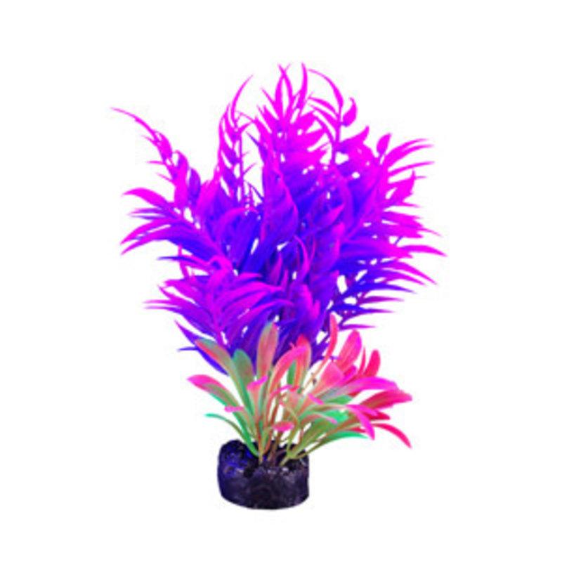 "Hagen Products iGlo Plant Pink/Purple - Slim Leaf Bamboo 5.5"""