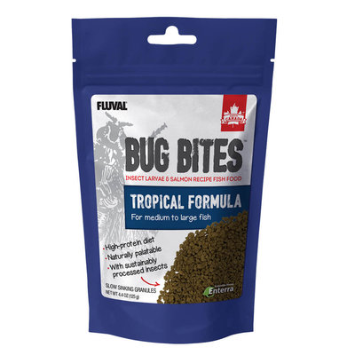 Hagen Products Bug Bites M/L Tropical Fish Granules 4.4oz