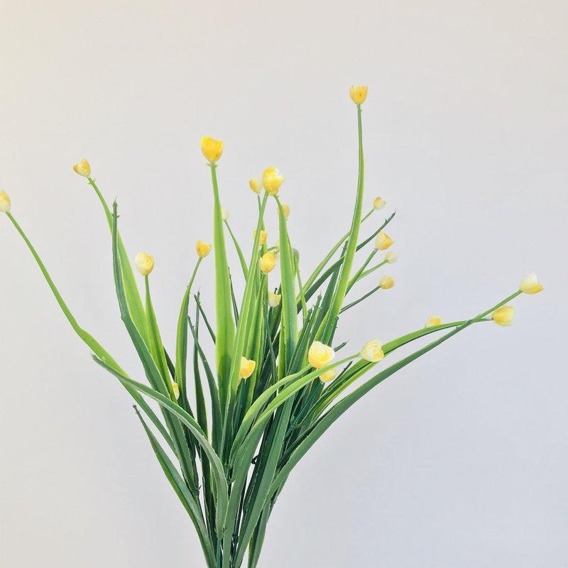 """Tulip Grass Yellow 18"""""""