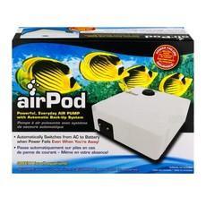 Penn-Plax Pet Products AirPod® Air Pump w/Battery Back-Up, 55 gal