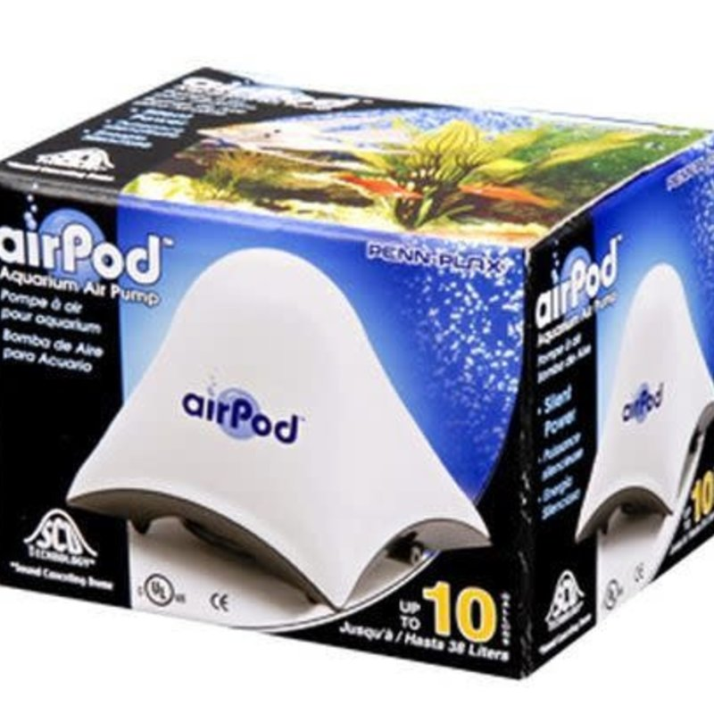 Penn-Plax Pet Products AirPod® Air Pump - Up to 10 Gallons