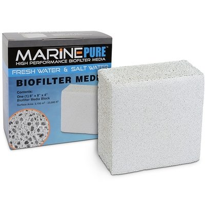 CerMedia LLC MarinePure BioFilter Media – Block 8x8x4