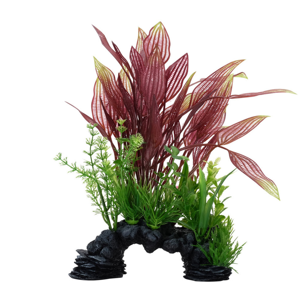 Hagen Products Red Lace Plant / Decore 10""