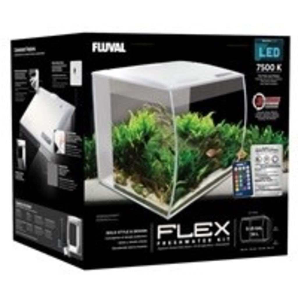 Hagen Products Fluval Flex Aquarium Kit 9 G - White