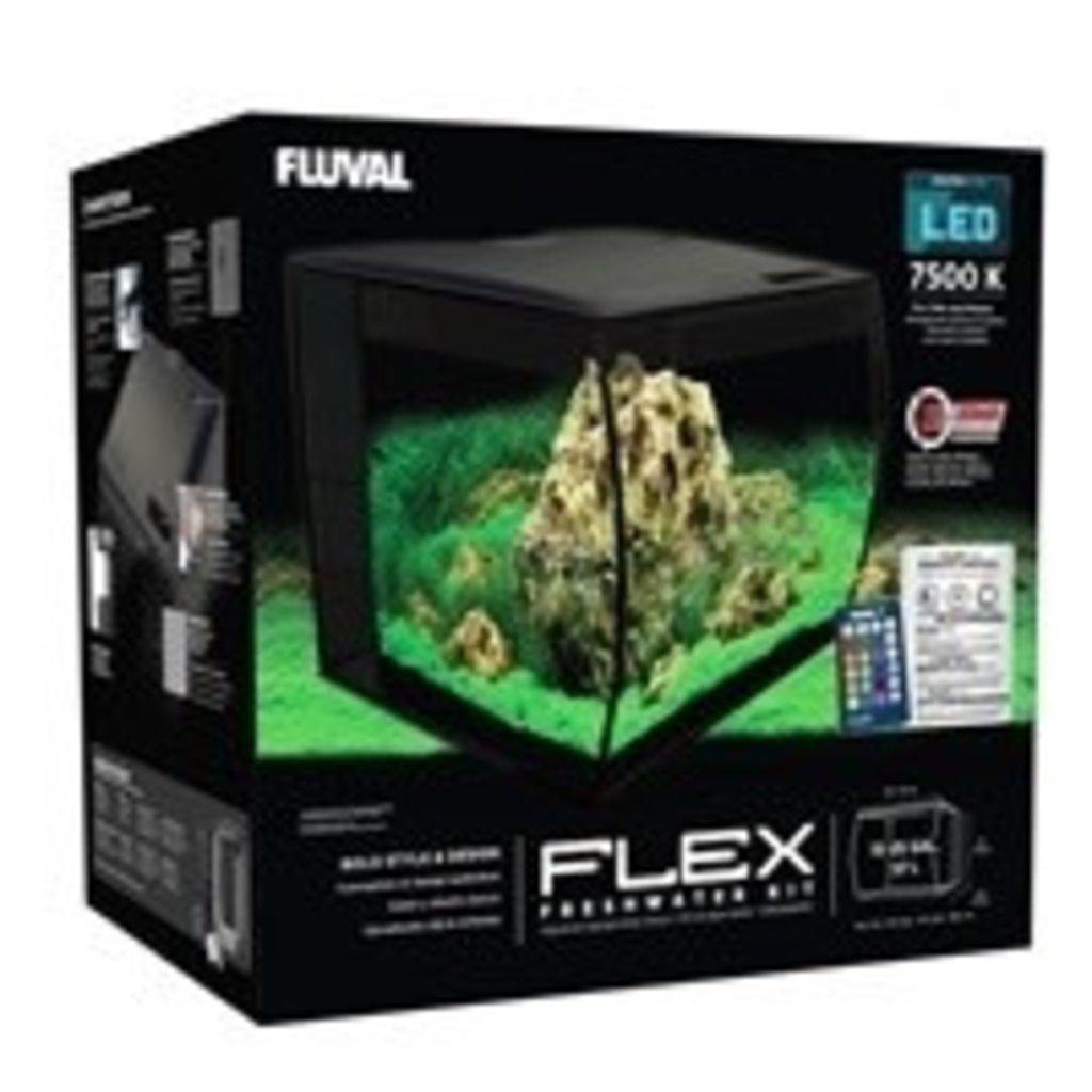 Hagen Products Fluval Flex Aquarium Kit 15 G – Black