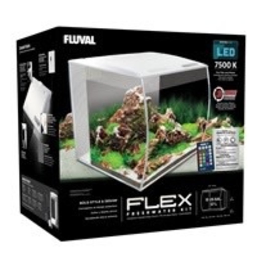 Hagen Products Fluval Flex Aquarium Kit 15 G – White