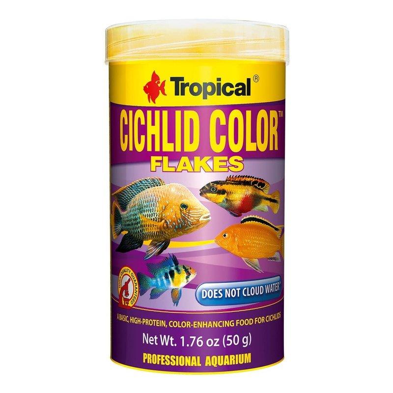 Tropical Cichlid Color Flakes - Standard - 1.76 oz