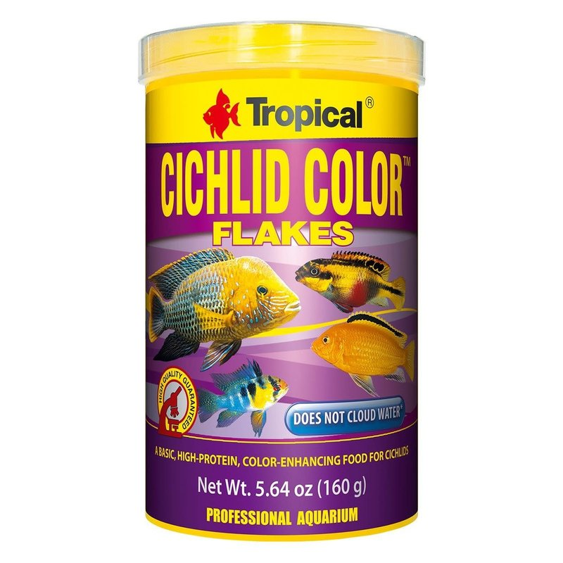 Tropical Cichlid Color XXL Size Flakes 1000ML/160G (5.64 oz)