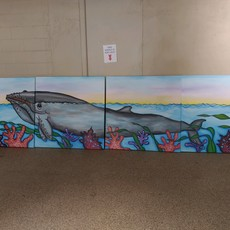 Extra Long Whale Mural