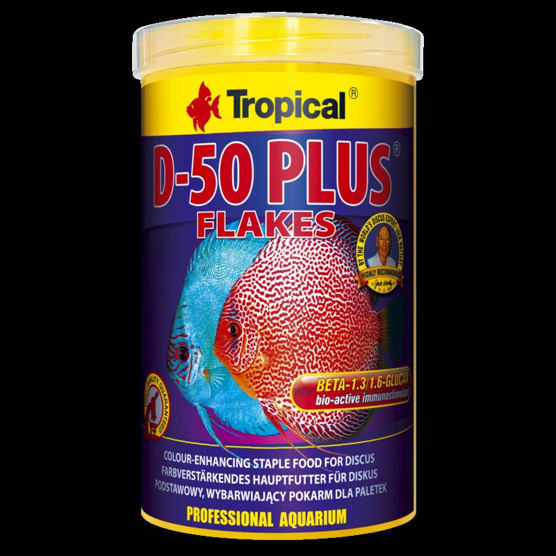 Tropical D-50 Plus Flakes tin 250ml / 50g (1.76 oz)