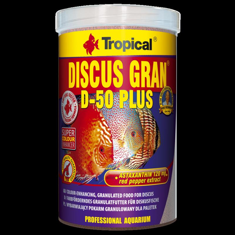Tropical Discus D-50 Plus Granules 1000ML/440G (15.52 oz)