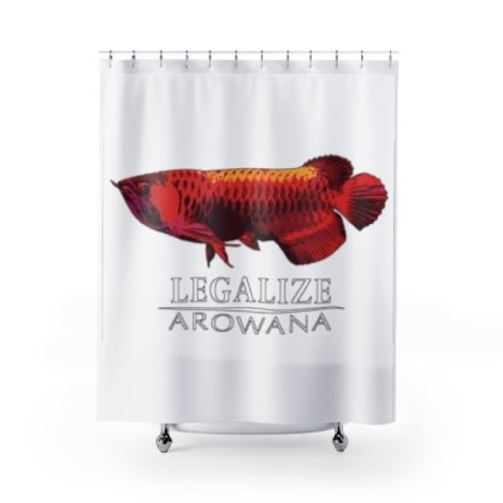 Printify Arowana Shower Curtain