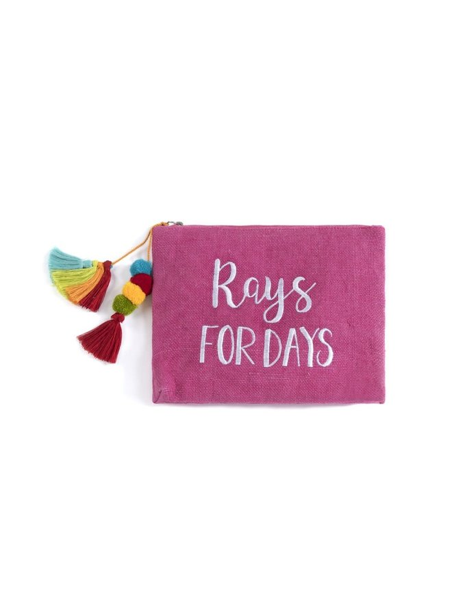 """""""Rays For Days"""" Zip Pouch"""