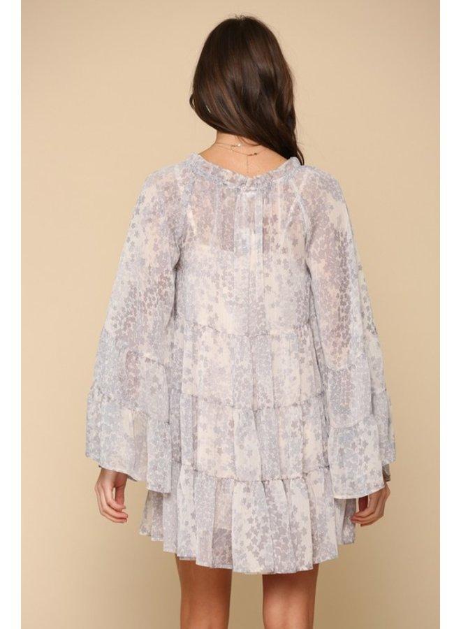Star Chiffon Dress