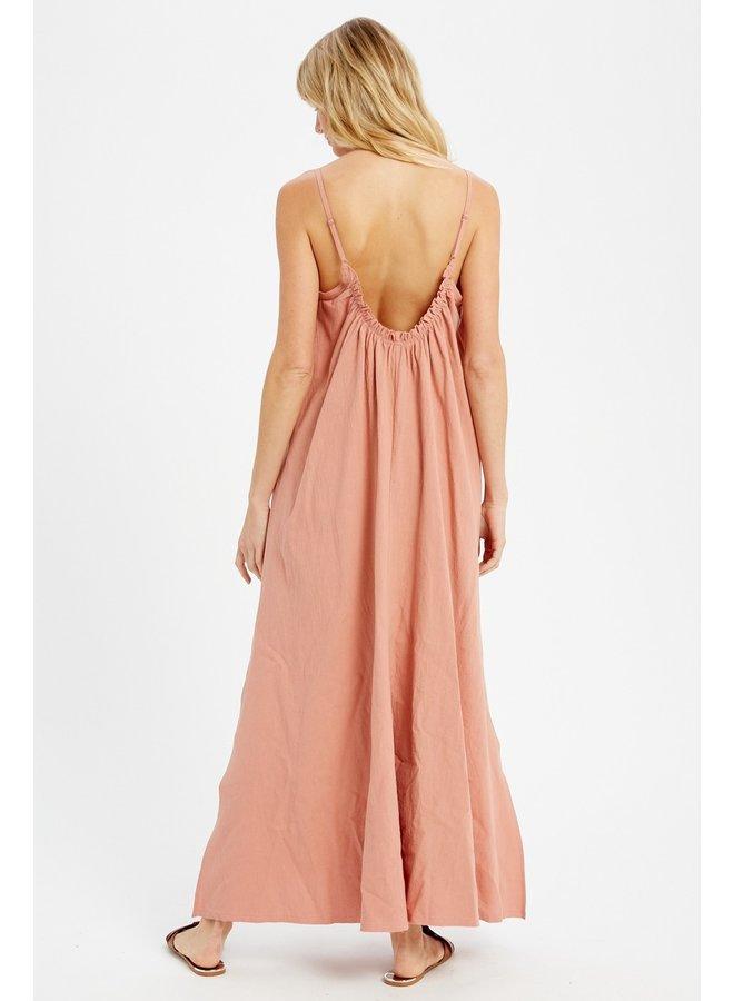 Ruffled Trim Maxi Dress
