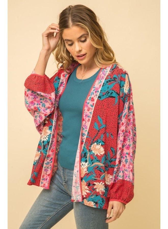 Mixed Floral Kimono