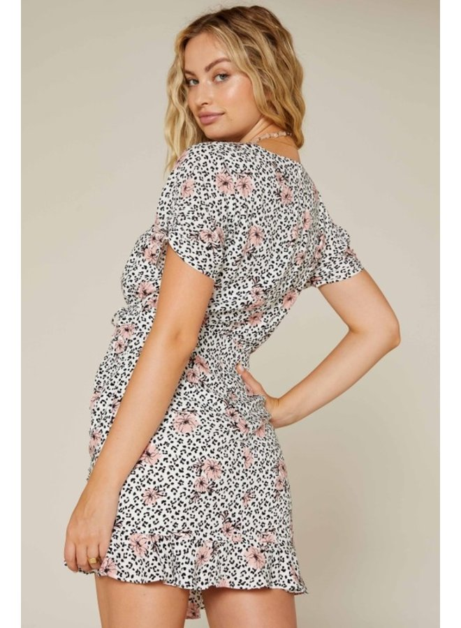Animal & Floral Dress