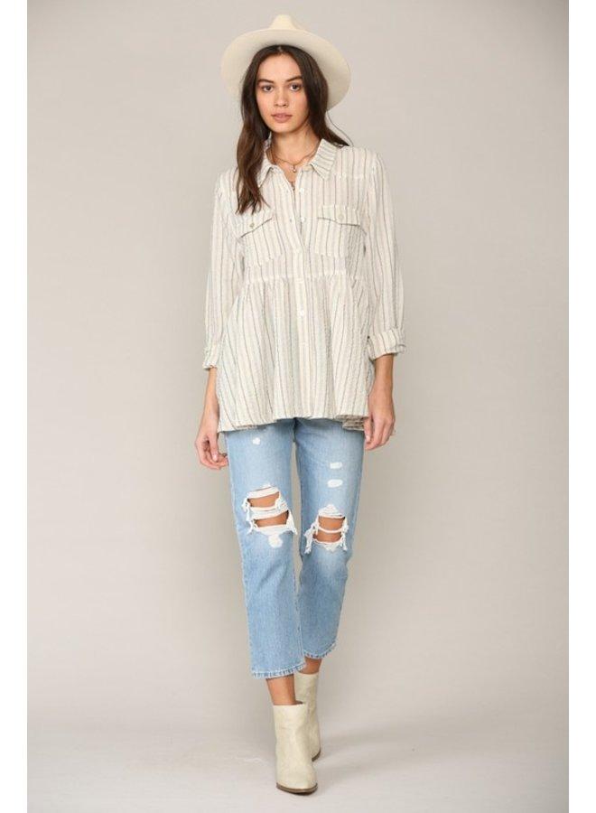 Stripe Babydoll Shirt