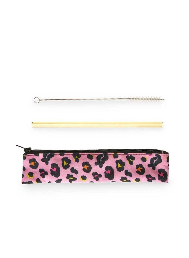Animal Glass Straw Set