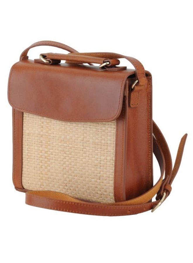 Elizabeth Straw Saddle Bag