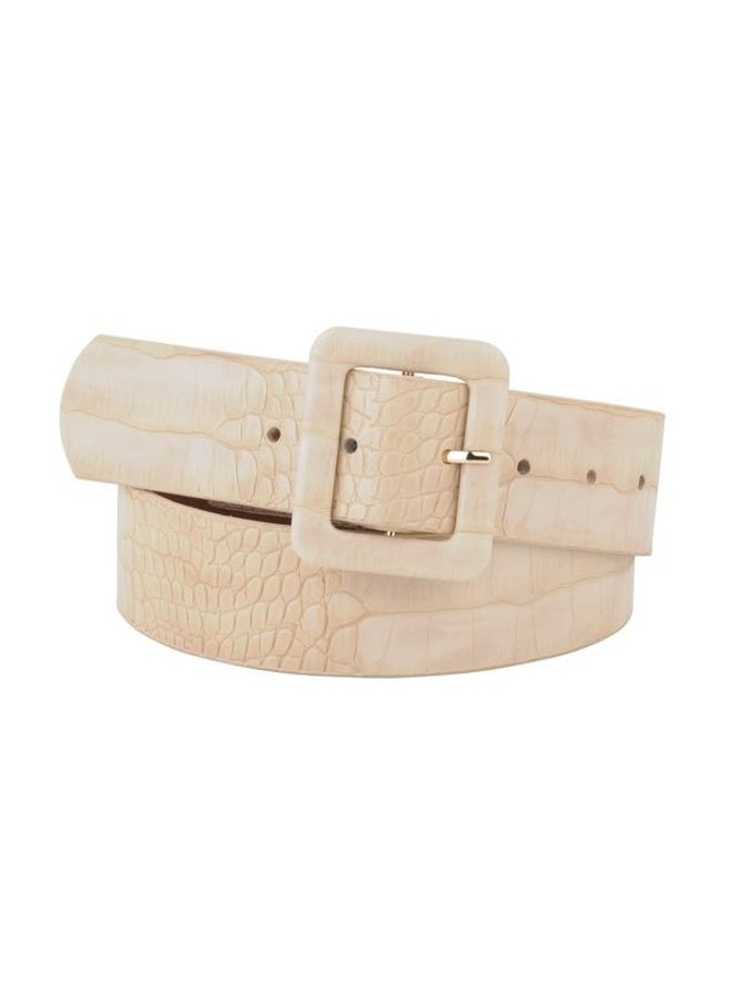 Wide Crocodile Belt