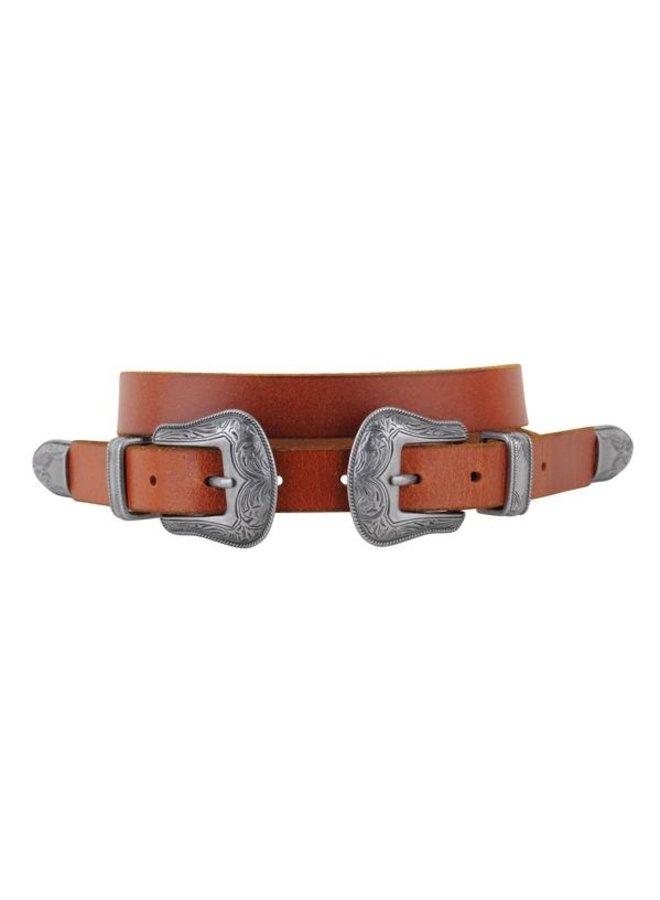 Western Double Buckle Belt