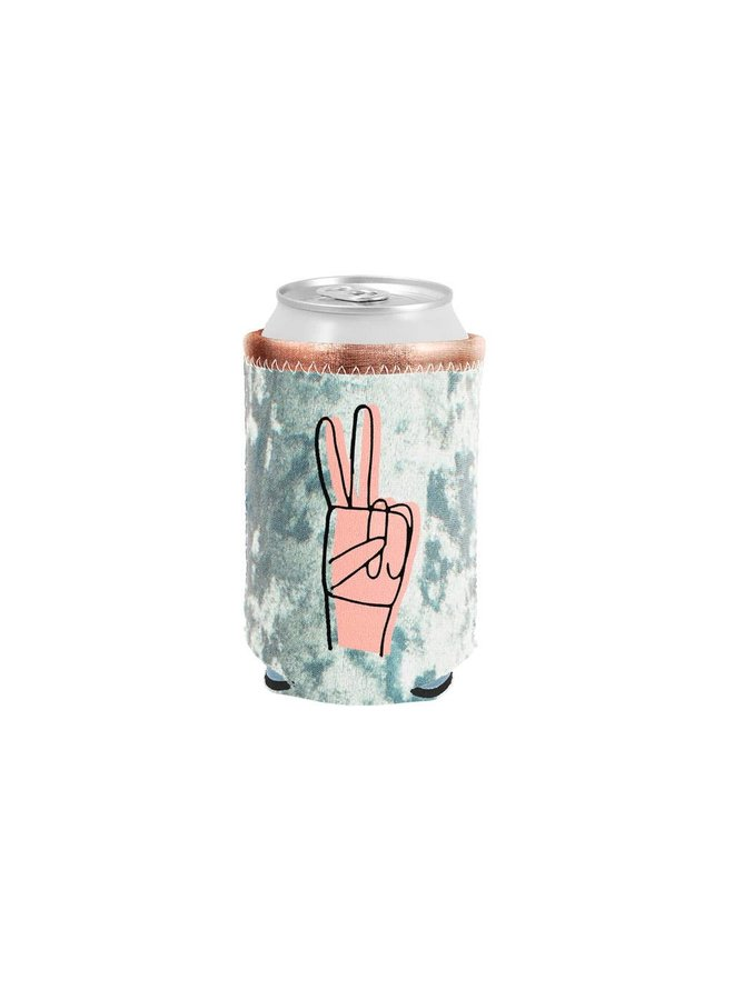 Peace Sign Velvet Can Cooler