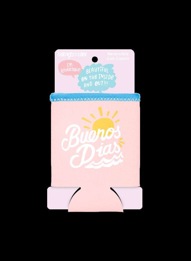 Buenos Dias Reversible Can Cooler
