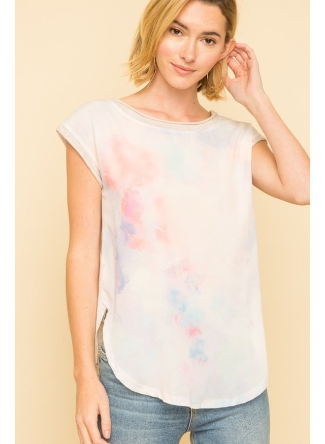 Tie Dye Boat Neck Top