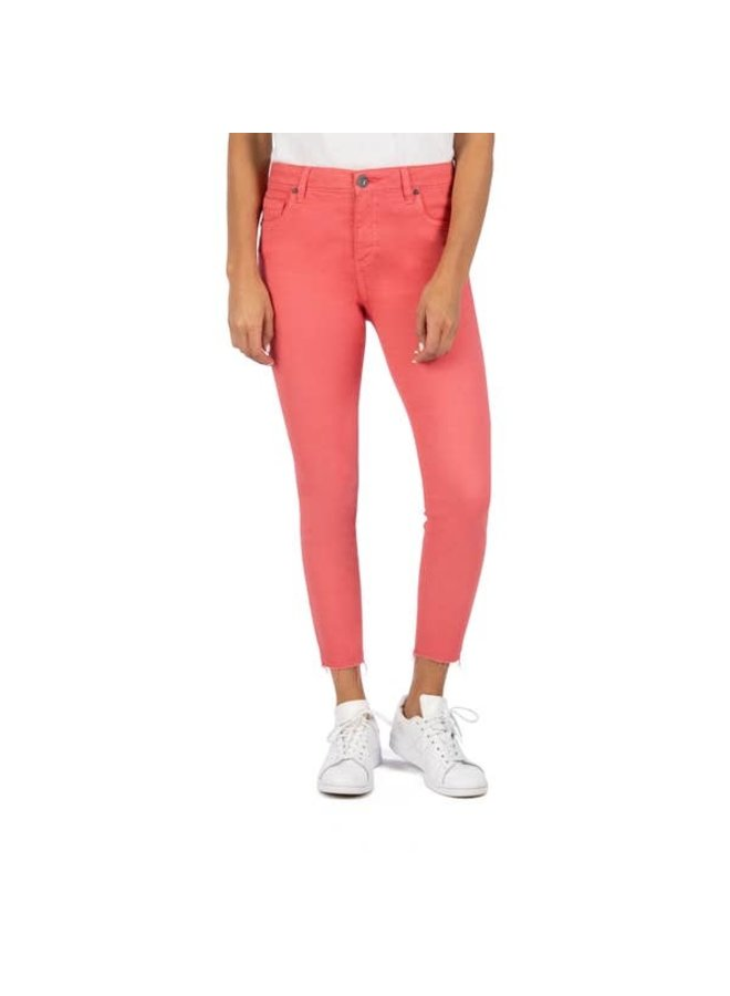 Connie High Rise Ankle Skinny Jean-Coral