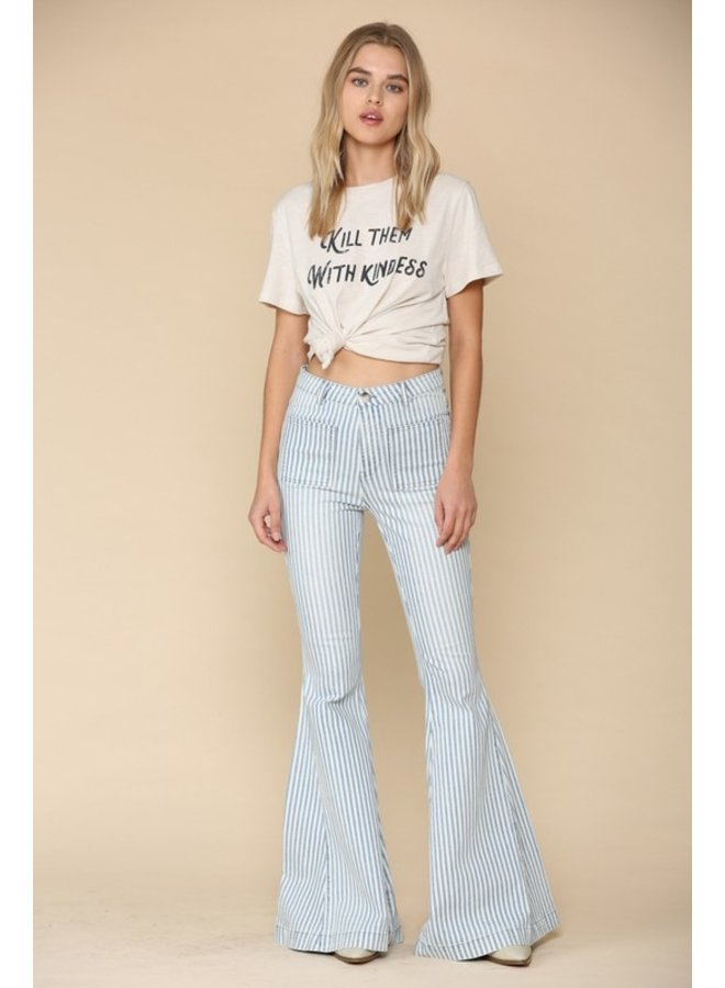 Stripe Flare Jeans