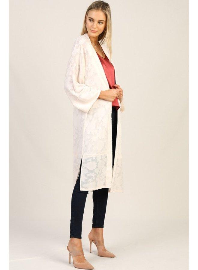 Satin Tone On Tone Kimono