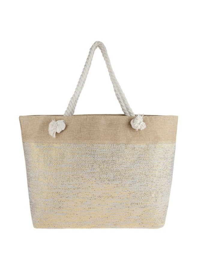 Woven Tote With Rope Handle