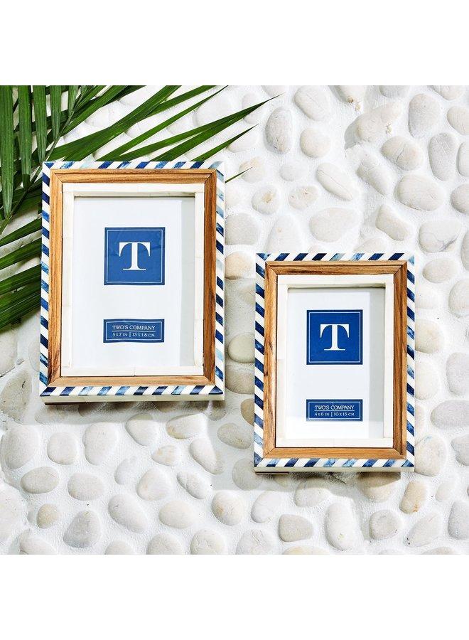 Blue & White Frame, 5x7