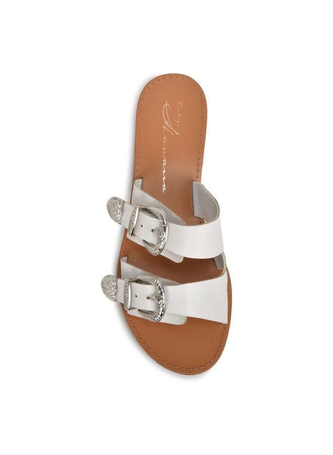 Jinx Double-Buckle Sandal