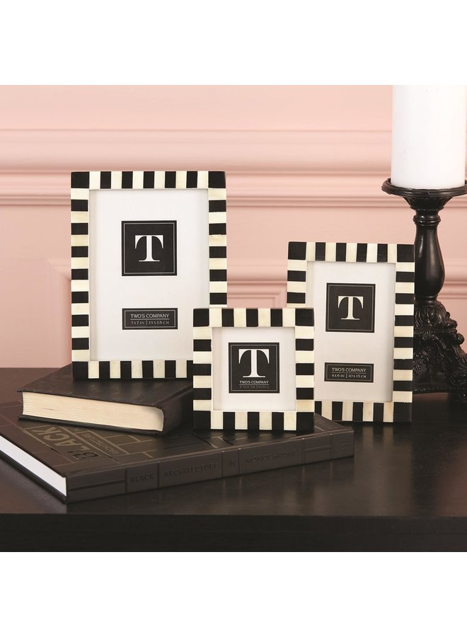 Stripe Picture Frame, 3.5x3.5
