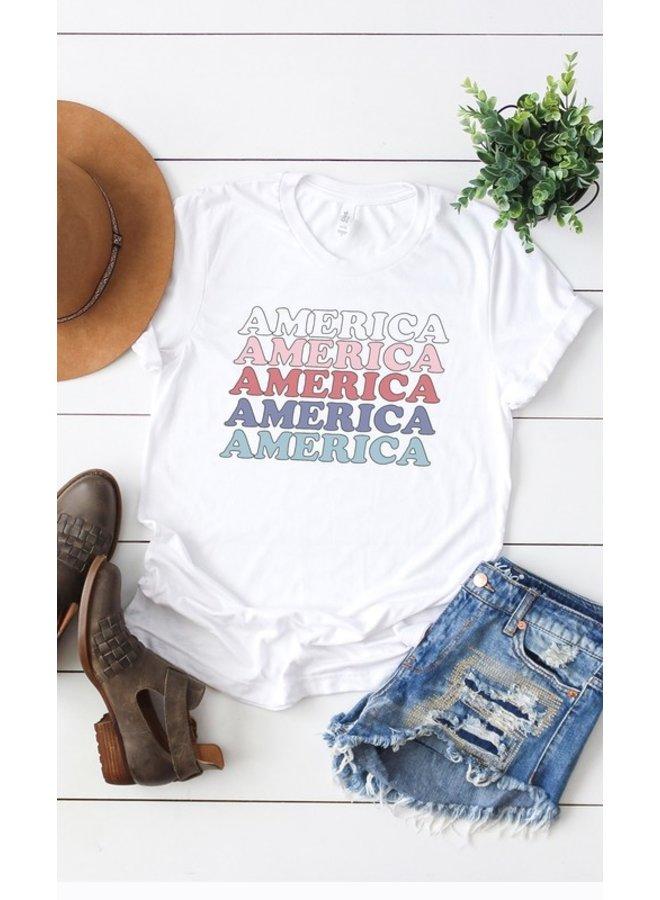 Ombre America Tee