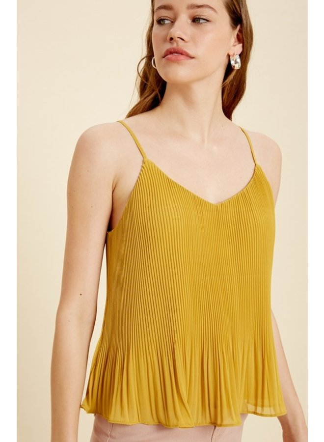 Pleated Cami Top