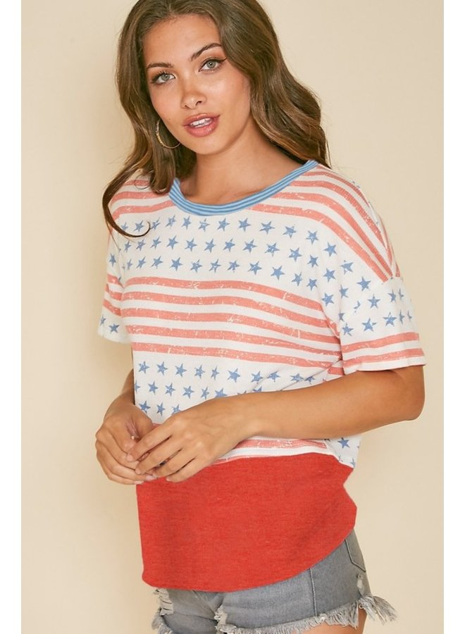 4th of July Knit Top