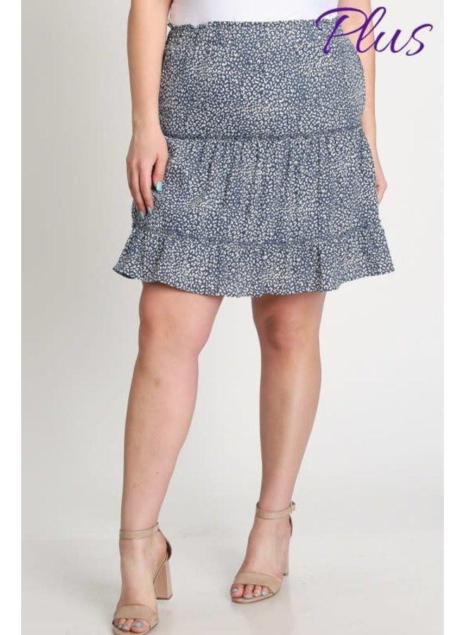 Animal Tiered Skirt